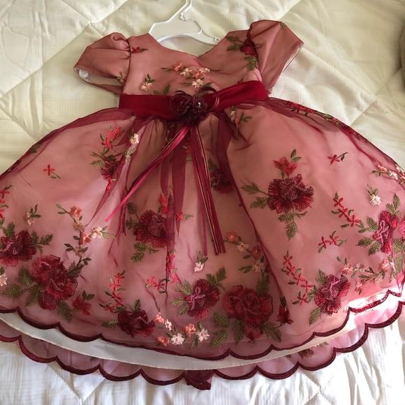 c4cb913e8471 Dresses   Burgundy Baby Dress   Poshmark